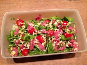 Rucola rookvlees salade