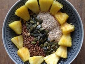 geitenyoghurt ananas