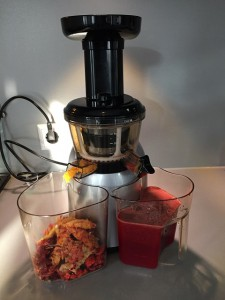 Slowjuicer sap versus blender smoothie Puur Wilma